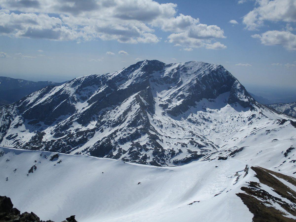 Pico Espigüete. Cara norte invernal.
