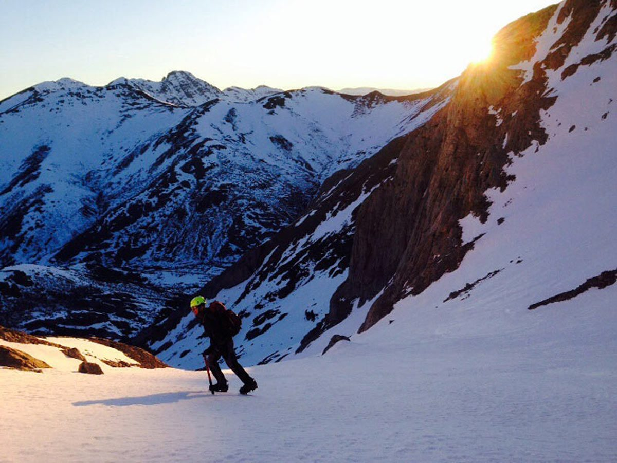 Ascensión invernal al Pico Espigüete. Vertiente nor-este